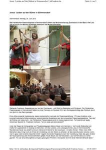 thumbnail of Jesus` Leiden auf der Bühne in Sömmersdorf